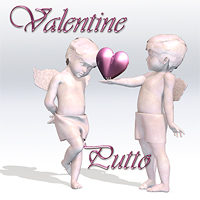 Porcelain - Putto Valentine 3D Figure Essentials 3D Models SaintFox