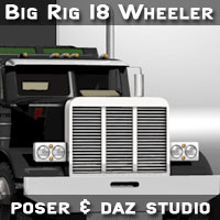 Big Rig 18 Wheeler Transportation lwanmtr