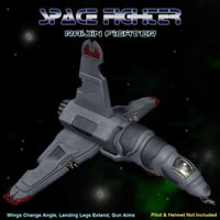 Raijin Space Fighter Props/Scenes/Architecture Transportation Themed Simon-3D