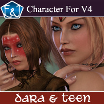 EA DARA And Teen 3D Figure Assets EmmaAndJordi