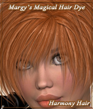 Margy's Magical Hair Dye for Harmony Hair 3D Figure Assets MargyThunderstorm