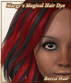 Margy's Magical Hair Dye for Becca Hair 3D Figure Assets MargyThunderstorm