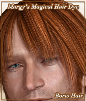 Margy's Magical Hair Dye for Boris De Conti Hair 3D Figure Assets MargyThunderstorm