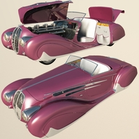 Delahaye 165 Figoni Falaschi 1939 (for Vue) Software 3D Models Nationale7