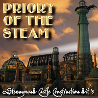 Priory of the Steam Themed Props/Scenes/Architecture Cybertenko