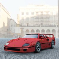 Ferrari F-40 (for Vue) Transportation Themed Digimation_ModelBank