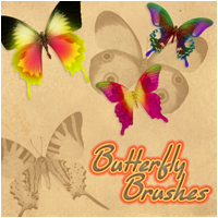 Brushes - Butterfly 2D Graphics Atenais