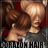 Corazon Hair 2-in-1 3D Models 3D Figure Assets Bice