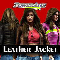 Leather Jacket V4/A4/G4/Elite/F4 3D Models 3D Figure Assets powerage