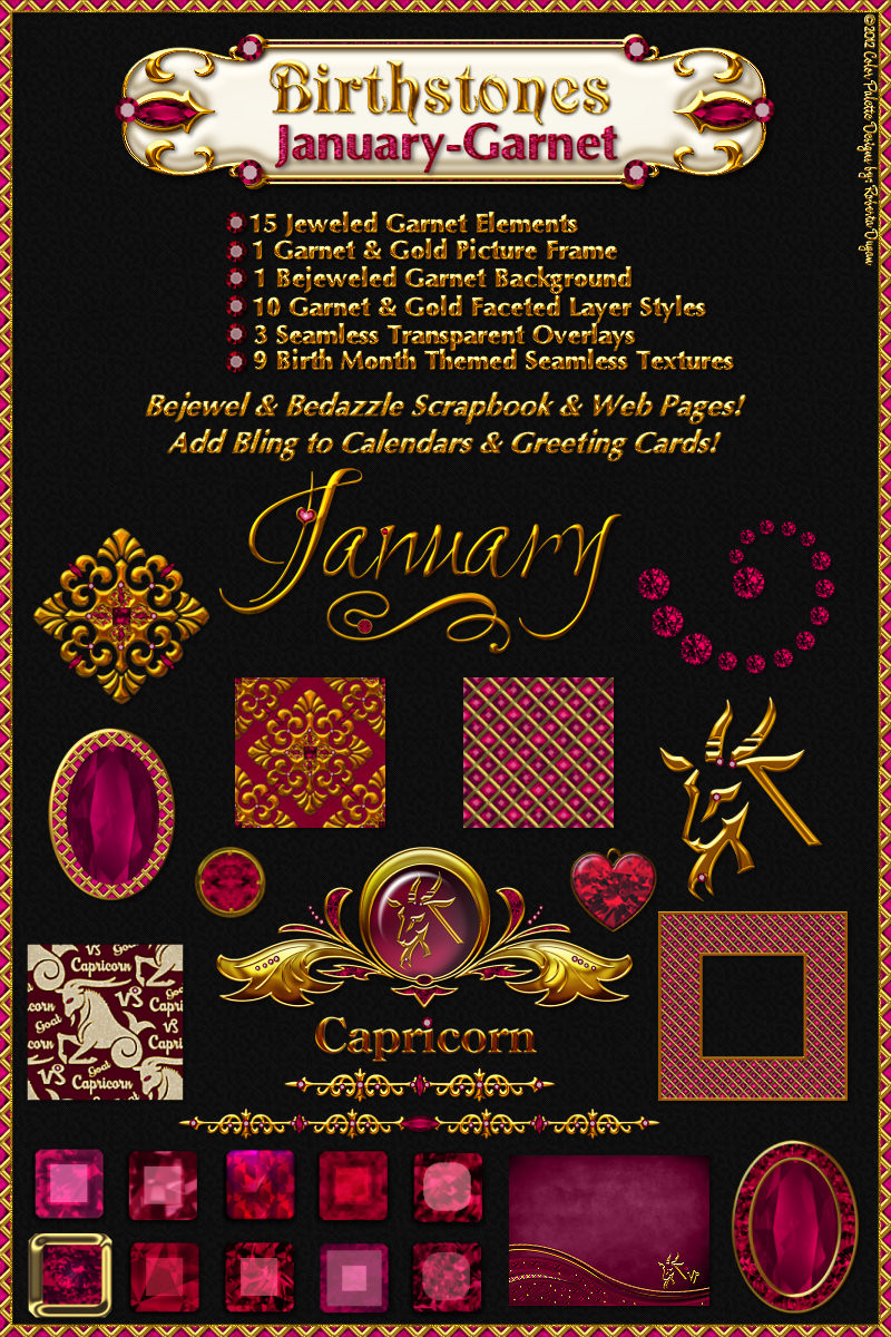 Birthstone Bling!: January-Garnet