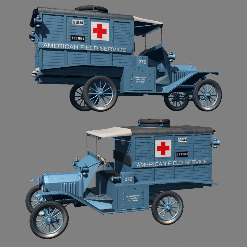 FORD T AMBULANCE 1917 ( for Vue )