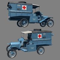 FORD T AMBULANCE 1917 ( for Vue ) 3D Models Nationale7
