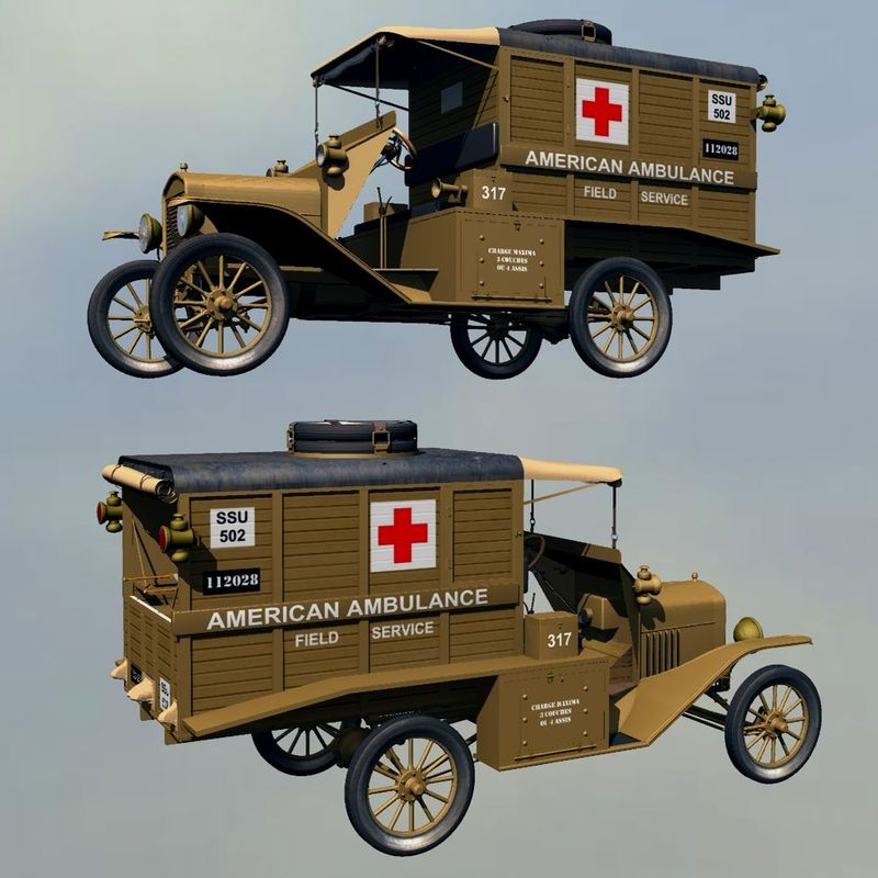 FORD T AMBULANCE 1918 ( for Vue )