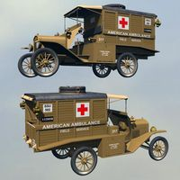 FORD T AMBULANCE 1918 ( for Vue ) 3D Models 3DClassics