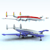 Lockheed Constellation (for Vue) Props/Scenes/Architecture Themed Transportation Digimation_ModelBank