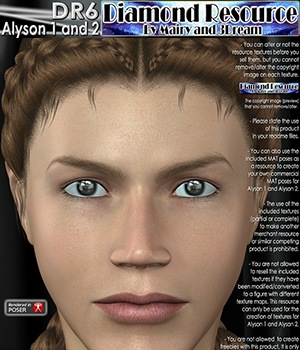 DR6-Alyson 3D Figure Assets 2D Graphics Merchant Resources 3Dream