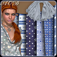 Selection- Fabrics 7 3D Models 2D Graphics ArtOfDreams