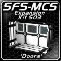 SFS-MCS 'Doors Expansion Kit' (S03) Software Props/Scenes/Architecture Themed ShadowGraphics3D