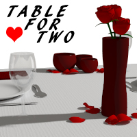 Table for Two Themed Props/Scenes/Architecture RetroDevil