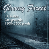Gloomy Forest 2D Graphics 3D Models AdamantGrafix