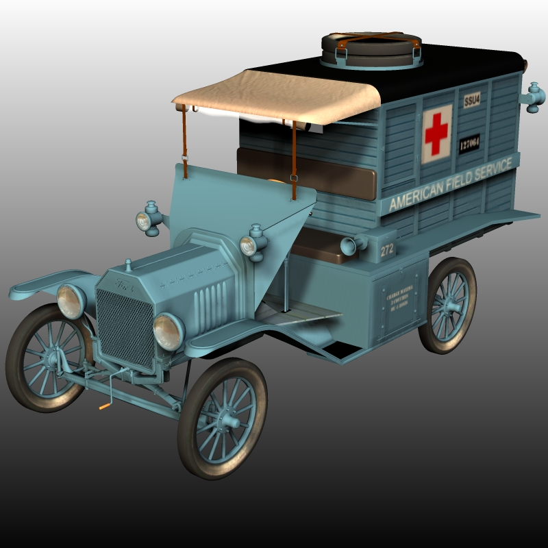 FORD T 1917 AMBULANCE ( for Poser )