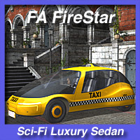 FA FireStar Sci-Fi Luxury Sedan 3D Models fireangel