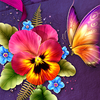 Moonbeams Fanciful Pansy 3D Models moonbeam1212