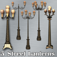AJ_Street_Lanterns Props/Scenes/Architecture Themed -AppleJack-