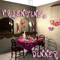 Valentine's Dinner Themed Props/Scenes/Architecture greenpots