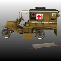 FORD T AMBULANCE 1918 ( for Poser ) image 3
