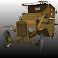 FORD T AMBULANCE 1918 ( for Poser ) image 6