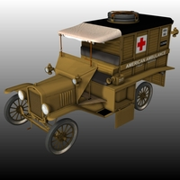FORD T AMBULANCE 1918 ( for Poser ) image 7