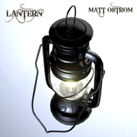 LANTERN by Matt Ostrom Maya and OBJ Props/Scenes/Architecture Themed mattimage3d