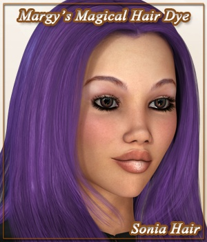 Margy's Magical Hair Dye for Sonia Hair 3D Figure Assets MargyThunderstorm