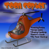 Toon Copter 3D Models pappy411