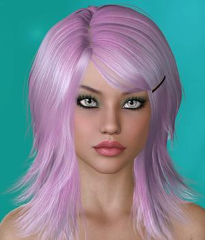 Virgenie Hair for V4 and G1 3D Figure Assets SWAM