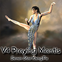 V4 Seven Star Mantis KungFu 3D Models 3D Figure Essentials ayukawataur