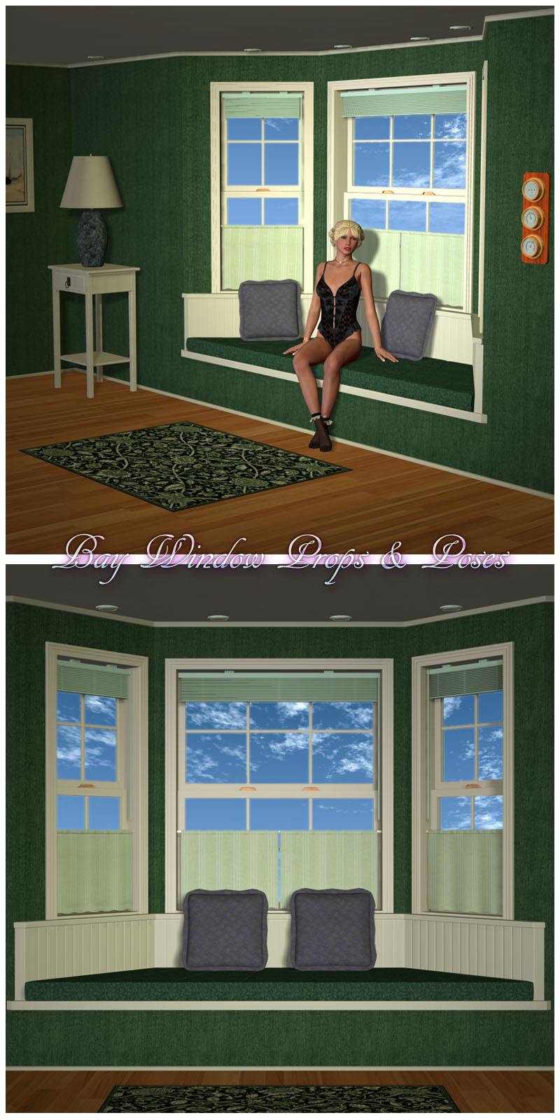 Bay Window Props & Pose Set