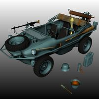 SCHWIMMWAGEN 166 ( for Poser ) 3D Models Nationale7