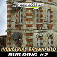 Industrial Brownfield: Building 2 3D Models powerage