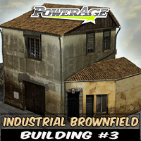 Industrial Brownfield: Building 3 3D Models powerage