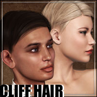 Cliff Hair 3D Models 3D Figure Essentials outoftouch