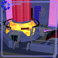 Starship Engineering Room (for Poser) image 3