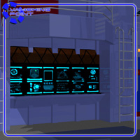 Starship Engineering Room (for Poser) image 5