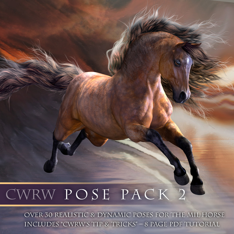 CWRW Mil Horse Pose Pack 2 by cwrw