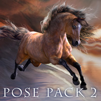 CWRW Mil Horse Pose Pack 2 3D Figure Essentials 3D Models cwrw