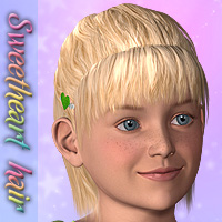 Sweetheart Hair for K4 3D Figure Essentials DigitalDreamsDS