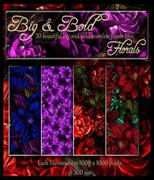 ABC Big-n-Bold Florals 3D Models 2D Bez