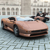 Jaguar XJ 220 (for Vue) 3D Models Digimation_ModelBank