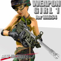WEAPON GIRL for VAGS4 3D Figure Assets 3D Models billy-t